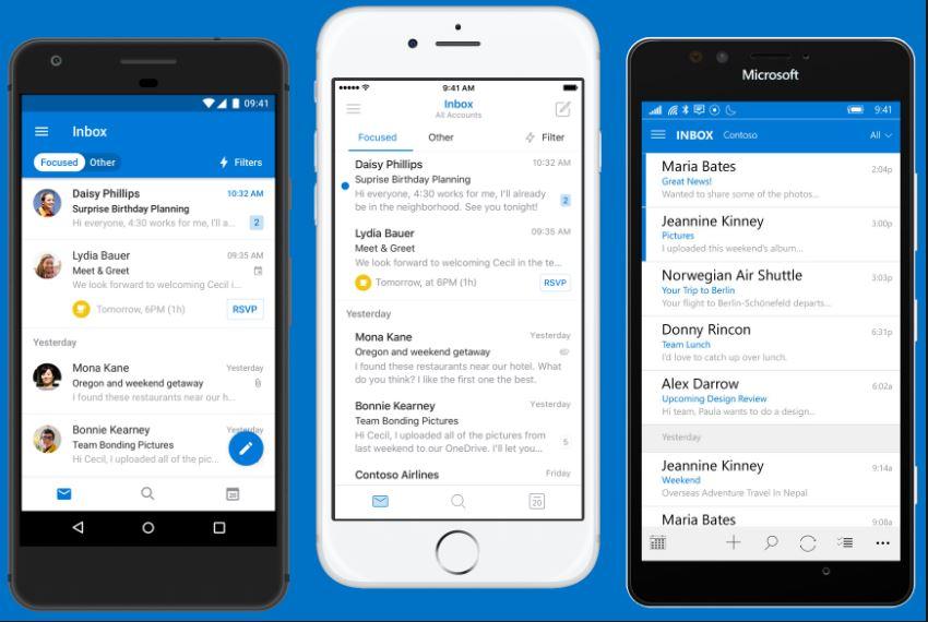 خدمة Outlook ثاني أفضل بريد الكتروني