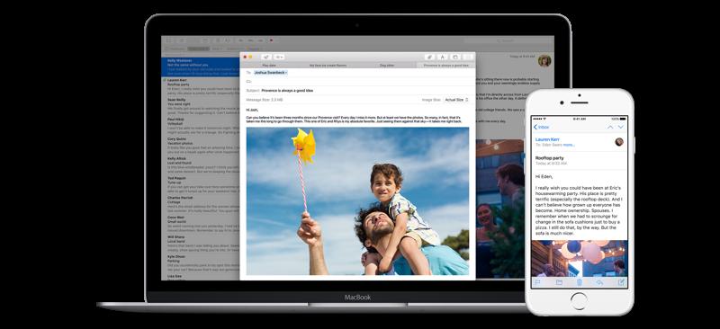 خدمة Apple Mail كبريد لمستخدمي آبل