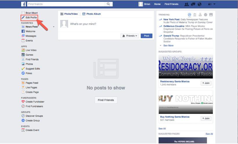 اضافة صورة الى حساب فيسبوك