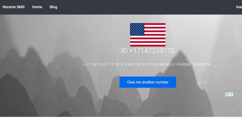 رقم امريكي لتلقي الرسائل اون لاين