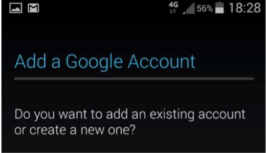 انشاء ايميل جديد على هاتف الأندرويد