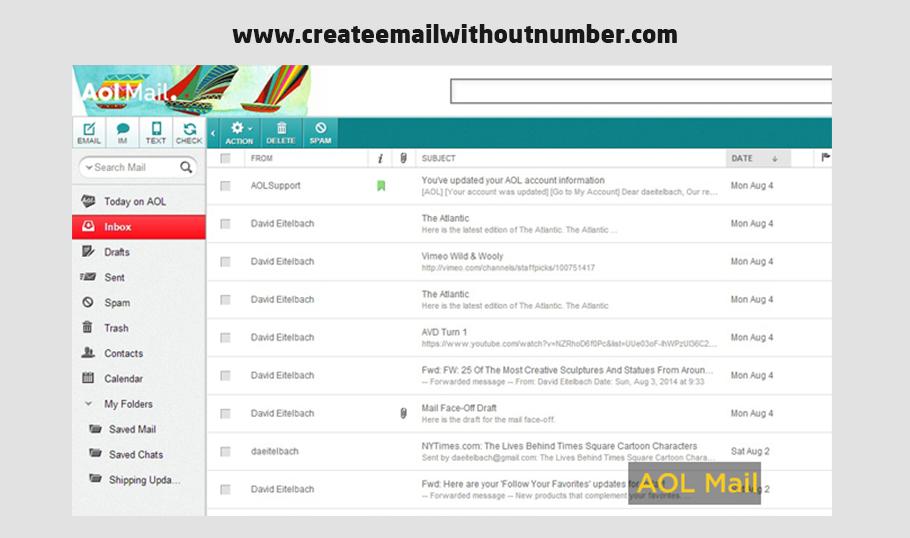 إنشاء بريد إلكتروني احترافي من AOL Mail